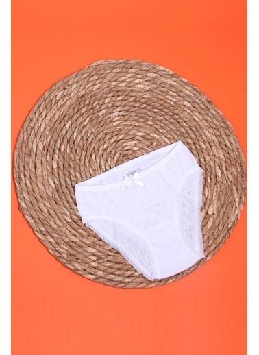 Breeze Kız Çocuk Külot İç Giyim Beyaz (3-11 Yaş) Beyaz